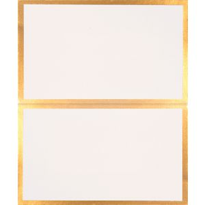 Paper Chic Place Cards Linen White Gold 10 Pack