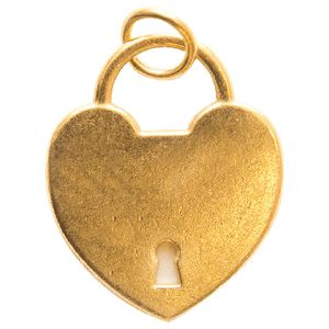 Paper Chic Decorative Heart Charms Gold 5 Pack