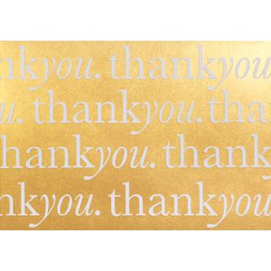 Paper Chic A6 Thank You Postcards Gold 10 Pack