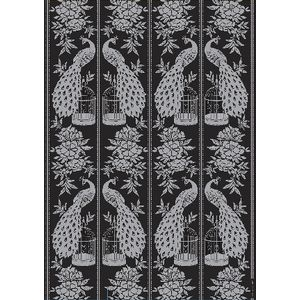 Paper Chic A4 Oriental Birdcage Embossed Paper Silver 5 Pack