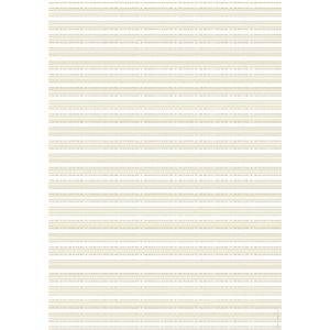 Paper Chic A4 English Pinstripe Embossed Paper Pearl 5 Pack