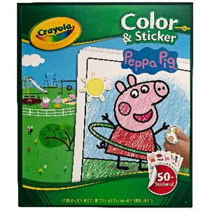 Crayola Color N Sticker Book Peppa Pig Theme