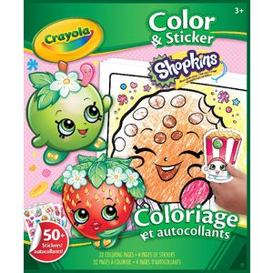 Crayola Color N Sticker Book Shopkins Theme