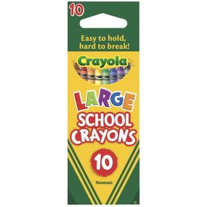 Crayola Large School Crayons 10 Pack