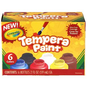 Crayola Tempera Paints 6 Pack