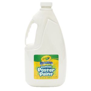 Crayola Washable Poster Paint White 2L