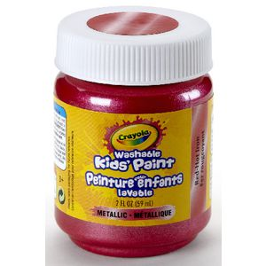 Crayola Washable Classic Kids' Paint 59mL Red Hot Iron