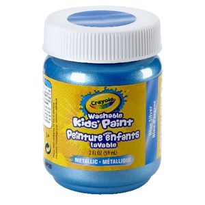 Crayola Washable Classic Kids' Paint 59mL Blue Silver
