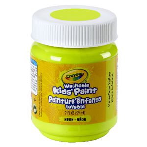 Crayola Washable Classic Kids' Paint 59mL Unmellow Yellow