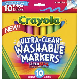 Crayola Ultra-clean Washable Markers 10 Pack