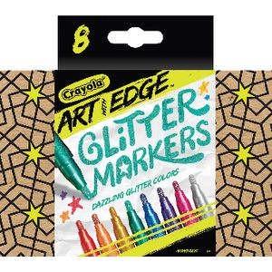 Crayola Art with Edge Glitter Markers 8 Pack