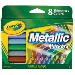 Crayola Permanent Markers Metallic Assorted 8 Pack