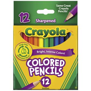 Crayola Half Size Coloured Pencils 12 Pack