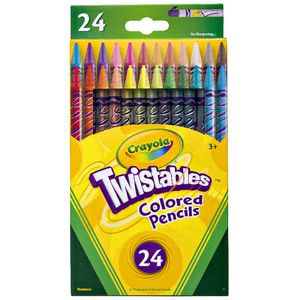 Crayola Twistable Coloured Pencils 24 Pack