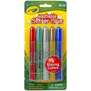 Crayola Washable Glitter Glue 5 Pack