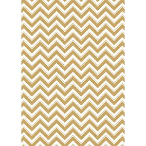 Paper Chic A4 Chevron Debossed Paper Gold 5 Pack
