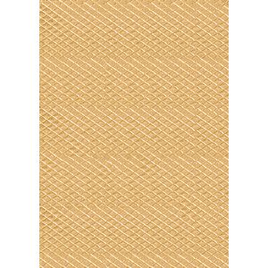 Paper Chic A4 Diamond Embossed Paper Gold 5 Pack