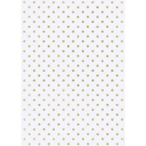 Paper Chic A4 Large Dots Foiled Paper Gold 5 Pack
