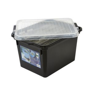 Creation Plastics 40 L File Store n Stack Black