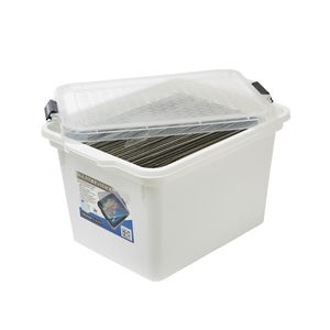 Creation Plastics 40L File Store n Stack White