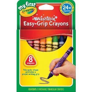 Crayola My First School Grip Crayons 8 Pack