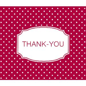 Paper Chic Thank You Cards Red Polka Dot 10 Pack