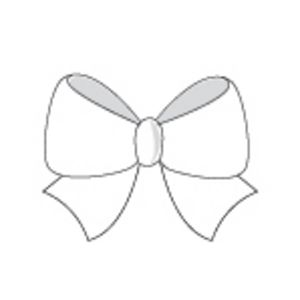 Paper Chic Adhesive Bows Pearl 5 Pack