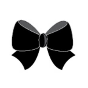 Paper Chic Adhesive Bows Midnight 5 Pack