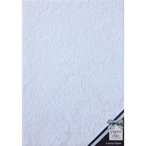 Paper Chic A4 Lace Paper White 5 Pack