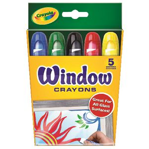 Crayola Washable Window Crayons 5 Pack