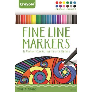 Crayola Fine Line Markers 12 Pack Classic