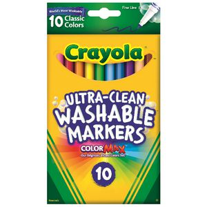 Crayola Ultra Clean Fine Line Markers 10 Pack
