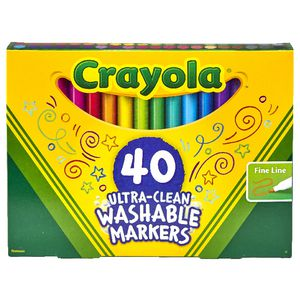 Crayola Ultra-clean Washable Markers 40 Pack