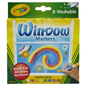 Crayola Washable Window Markers 8 Pack
