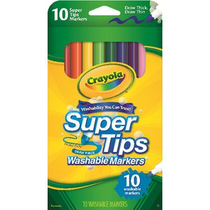Crayola Super Tips Markers 10 Pack