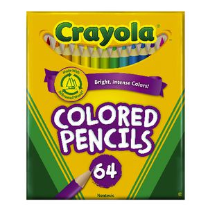 Crayola Half Sized Coloured Pencils Box of 64