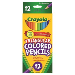 Crayola Triangular Coloured Pencils 12 Pack