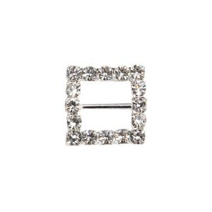 Paper Chic Square Diamante Buckles 5 Pack