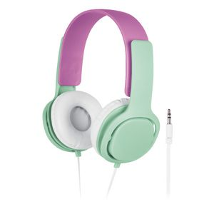 Liquid Ears Volume Limited Headphones with Mic Pink