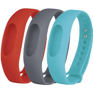 Jolt Fitness Tracker Bands Red Grey Teal 3 Pack