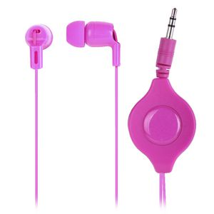 Retractable Headphones Pink