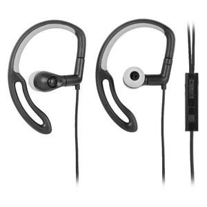 Qudo Sports Hook Earphones with Control Black