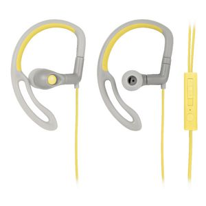 Qudo Sports Hook Earphones with Control Grey Yellow