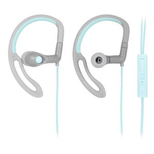 Qudo Sports Hook Earphones with Control Grey Teal