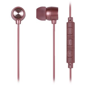 Qudo Premium Earphones Metallic Rose Gold