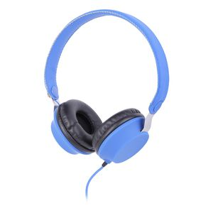 Qudo Lightweight Overhead Headphones Blue