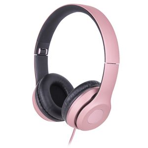 Qudo Premium Metallic On Ear Headphones Rose Gold