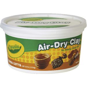 Crayola Air Dry Clay Terracotta 1.13kg