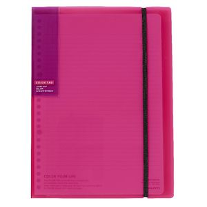 Kokuyo Color Tag Loose Leaf Holder Bi-Color B5 Pink