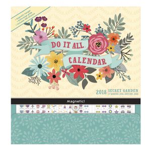 Orange Circle Do It All 2018 Calendar Secret Garden